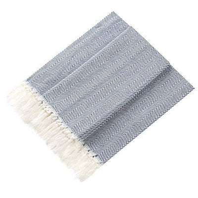 Lifaith 100% Cotton Hand Face Head Guest Gym Towel Set Washcloth Kitchen Tea Towel Dish Cloth Set of 4 Dark Blue