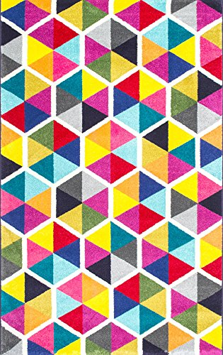 nuLOOM Maris Triangles Area Rug, 8' x 10', Multi