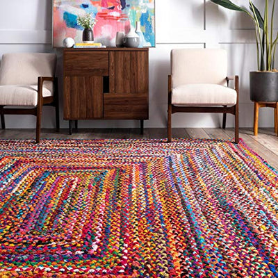 nuLOOM Tammara Hand Braided Accent Rug, 2' x 3', Multi