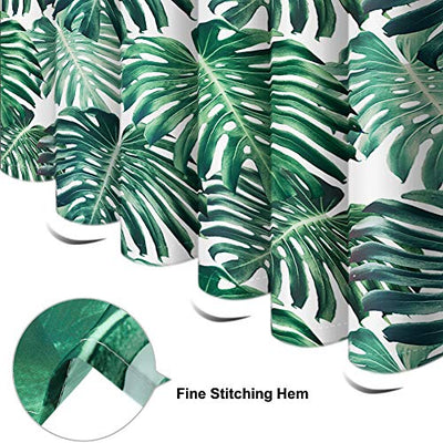 Otostar Shower Curtain Durable Polyester Palm Tropical Leaf Jungle Leaves Shower Curtains with 12 Hooks Bathroom Decor Bath Curtain Waterproof Bathroom Curtain 72 X 72 Inch (Tropical Leaf)