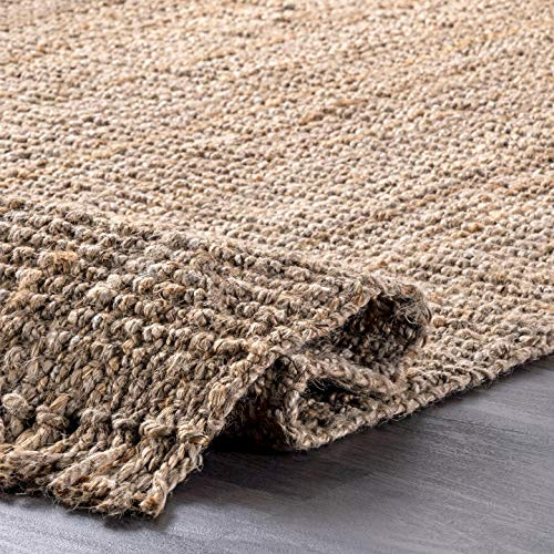 "nuLOOM Natura Collection Chunky Loop Jute Rug, 8' 6"" x 11' 6"", Natural, 6"" 6"""