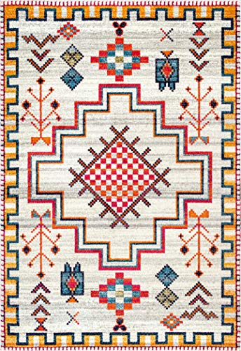 nuLOOM Richelle Tribal Medallion Area Rug, 8' x 10', Silver