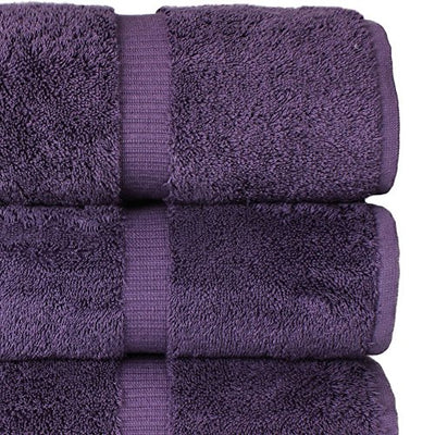 Chakir Turkish Linens Hotel & Spa Quality, Highly Absorbent 100% Turkish Cotton Bath Towels (4 Pack, Plum)