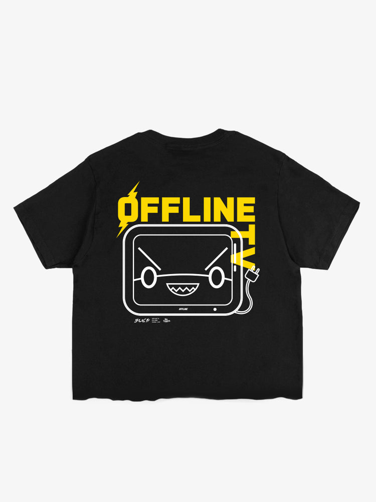 OFFLINETV® | SIGNAL LOST CROPPED TEE (BLACK)