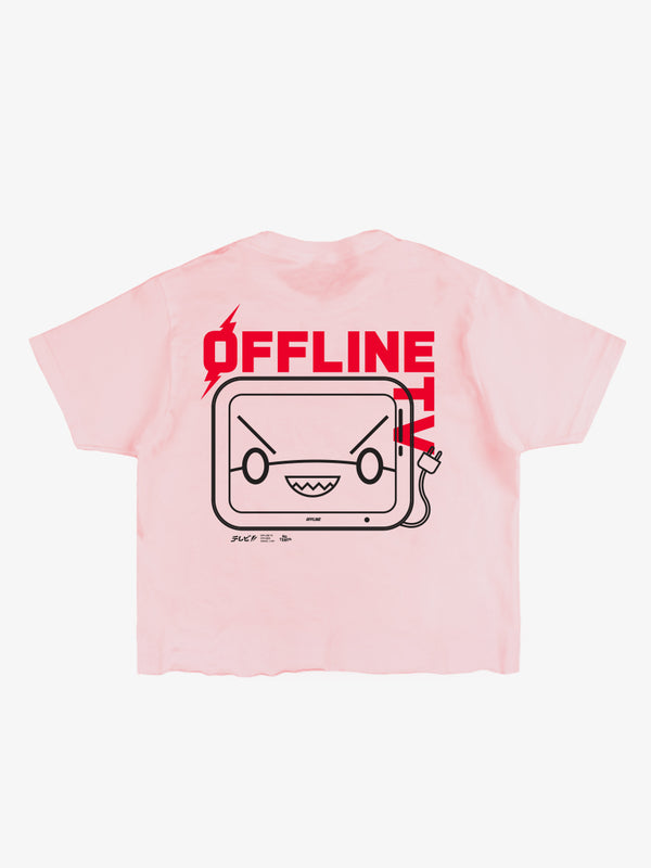 OFFLINETV® | SIGNAL LOST CROPPED TEE (PINK)