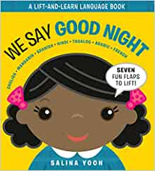 We Say Good Night (A Lift and Learn Language Book)
