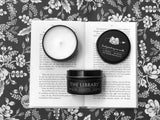 The Library - 6oz Tin Soy Candle - Eucalyptus + Lavender + Old Books