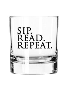 Sip. Read. Repeat. - 11oz Glass Tumbler