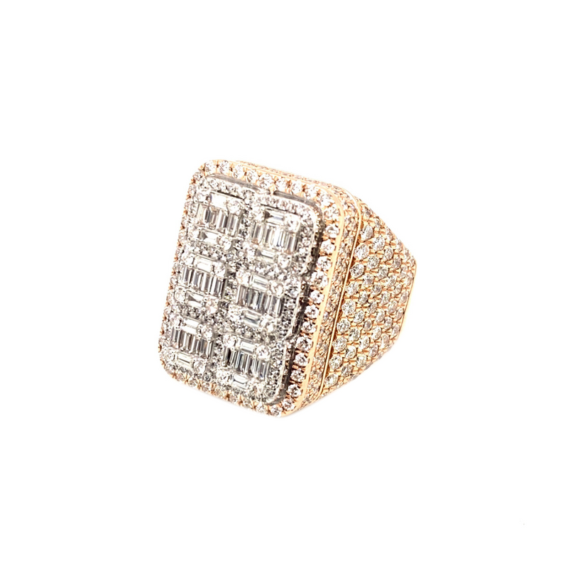 Baguettes on Baguettes - Rose Gold & VS Diamonds Ring