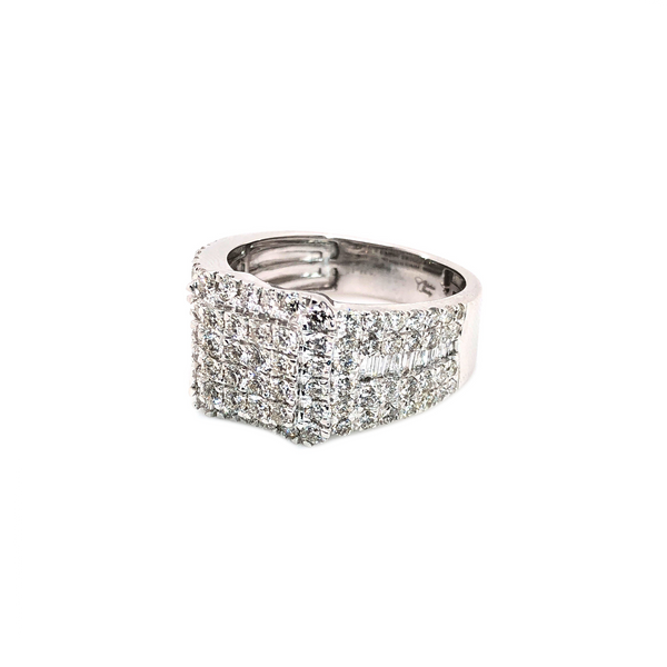 The King Ring - White Gold & VS Diamonds Ring