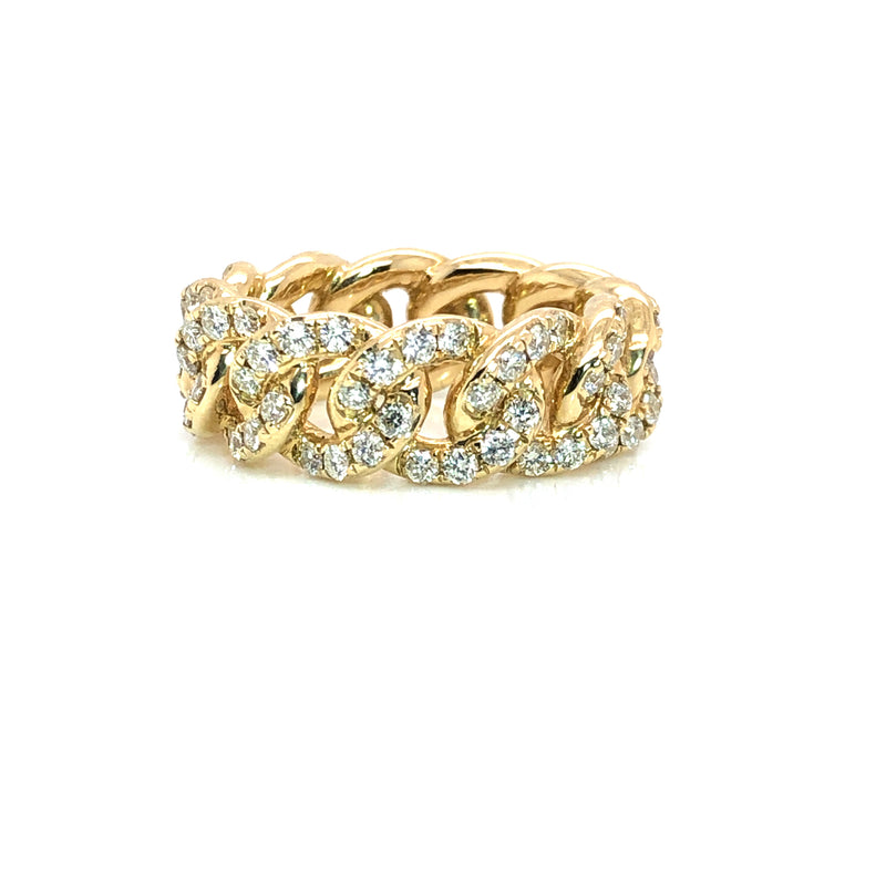 The Curb All Round - Yellow Gold & VS Diamonds Ring