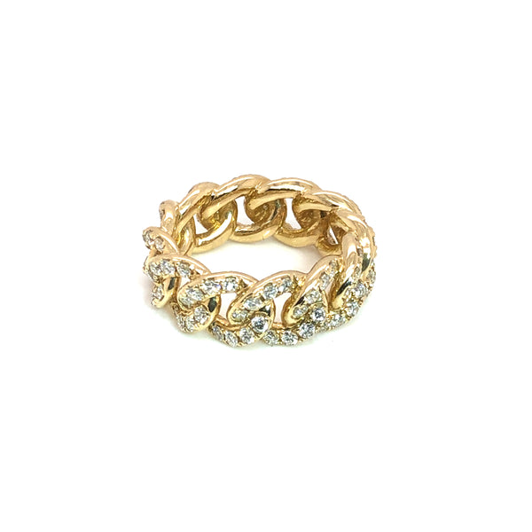 The Curb All Round - Gold & VS Diamonds Ring