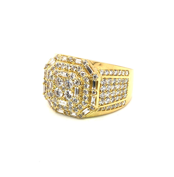 The Hexagon Baguettes - Gold & VS Diamonds Ring