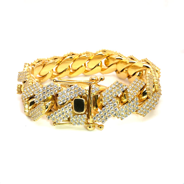 Big Boss Miami Cuban Bracelet with VS Diamonds