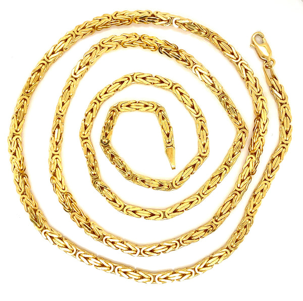 All Yellow Gold Byzantine Chains (Collection)