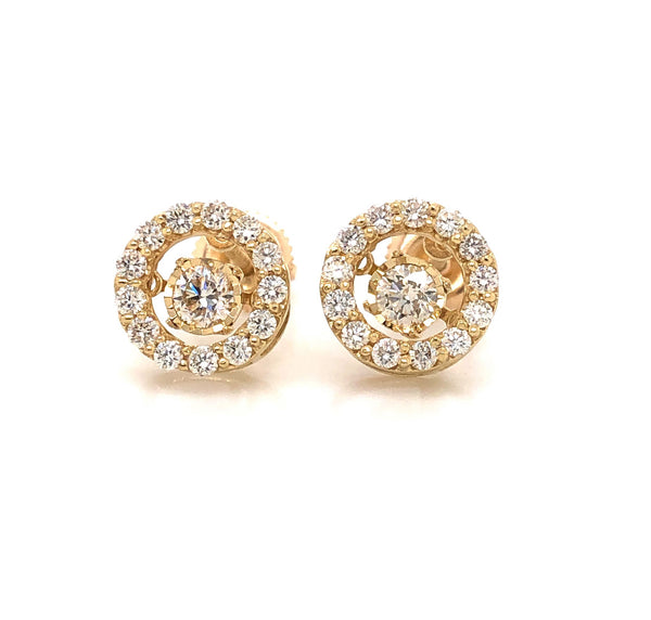 Circular Stud Earrings