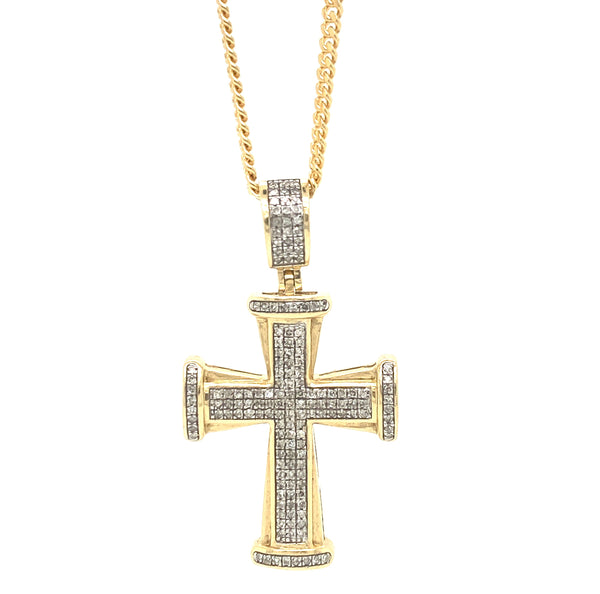 Micro Prayer Cross Pendant