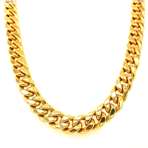 Yellow Gold Cuban Chain