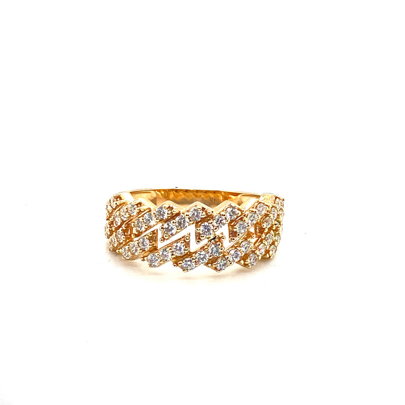 The Miami Cuban Ring - Gold & VS Diamonds Ring