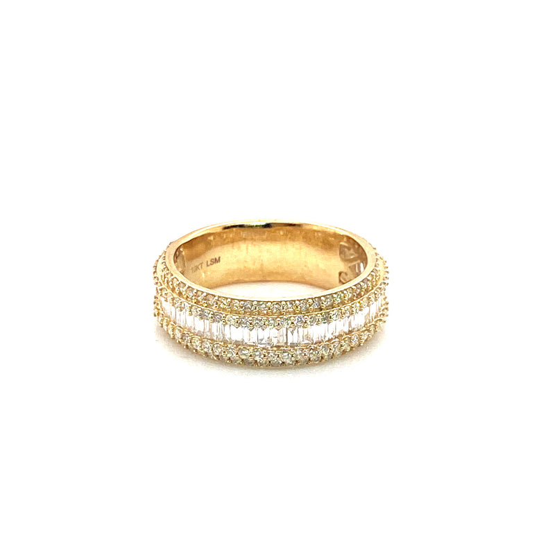 Baguette Band Ring - Yellow Gold & VS Diamonds Ring