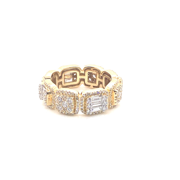 Glacier Band Ring - Yellow Gold VS Diamonds Ring