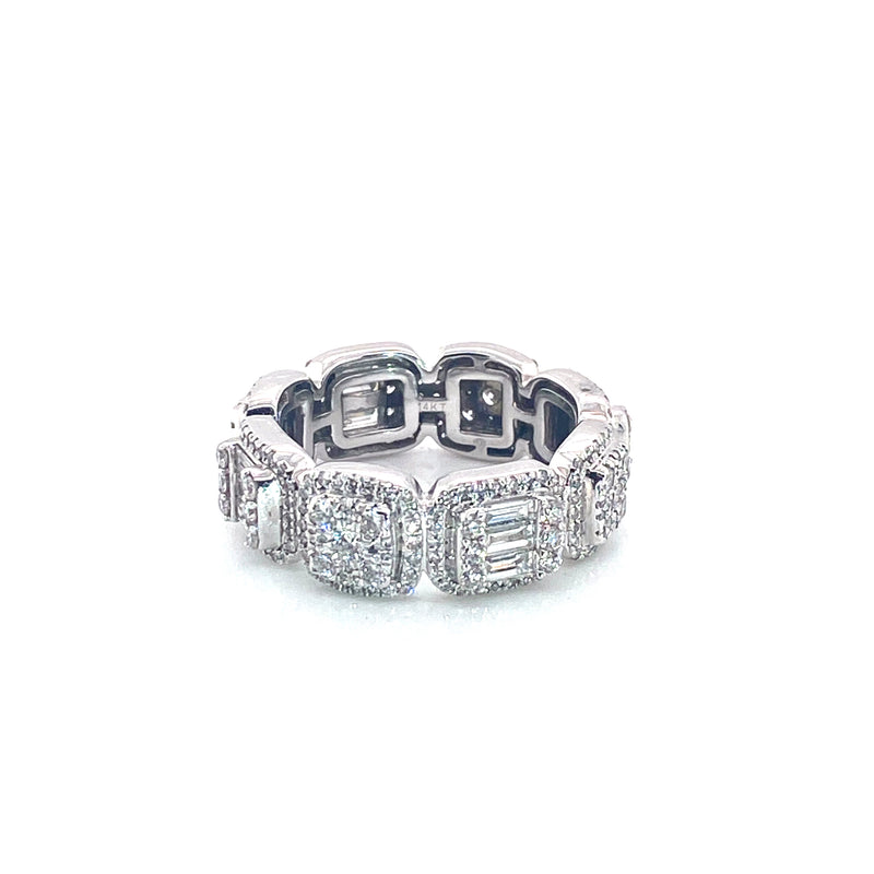 Glacier Band Ring - White Gold VS Diamonds Ring