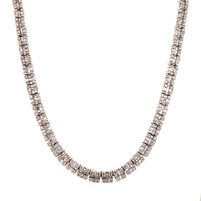 Track Baguette White Gold Chain
