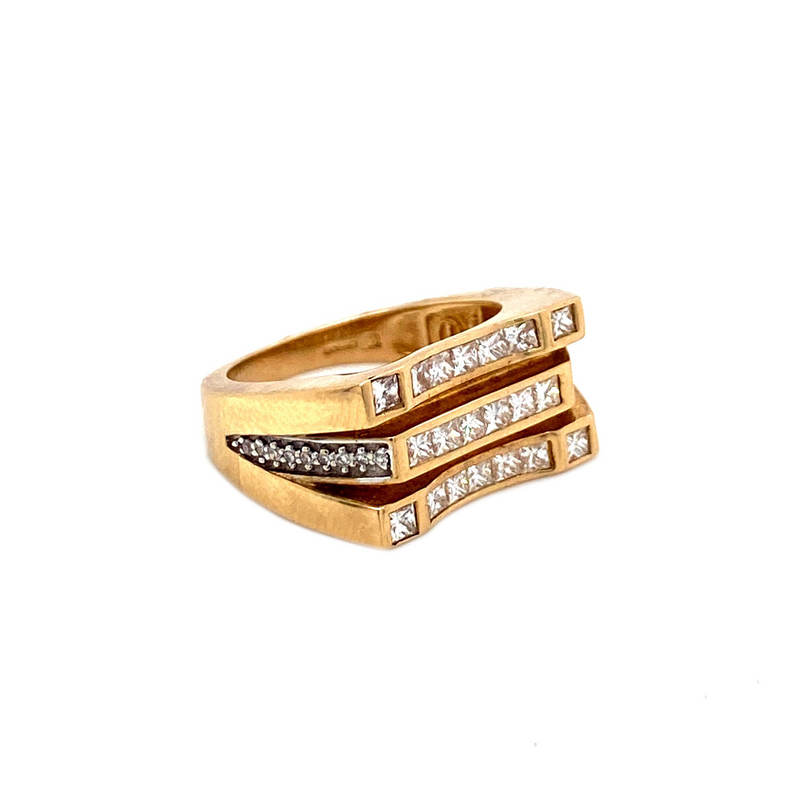 Galaxy Ring - Gold & VS Diamonds Ring