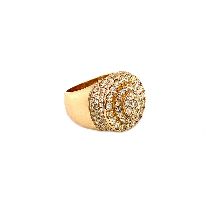 Circle Yellow Gold Ring  - Gold & VS Diamonds Ring
