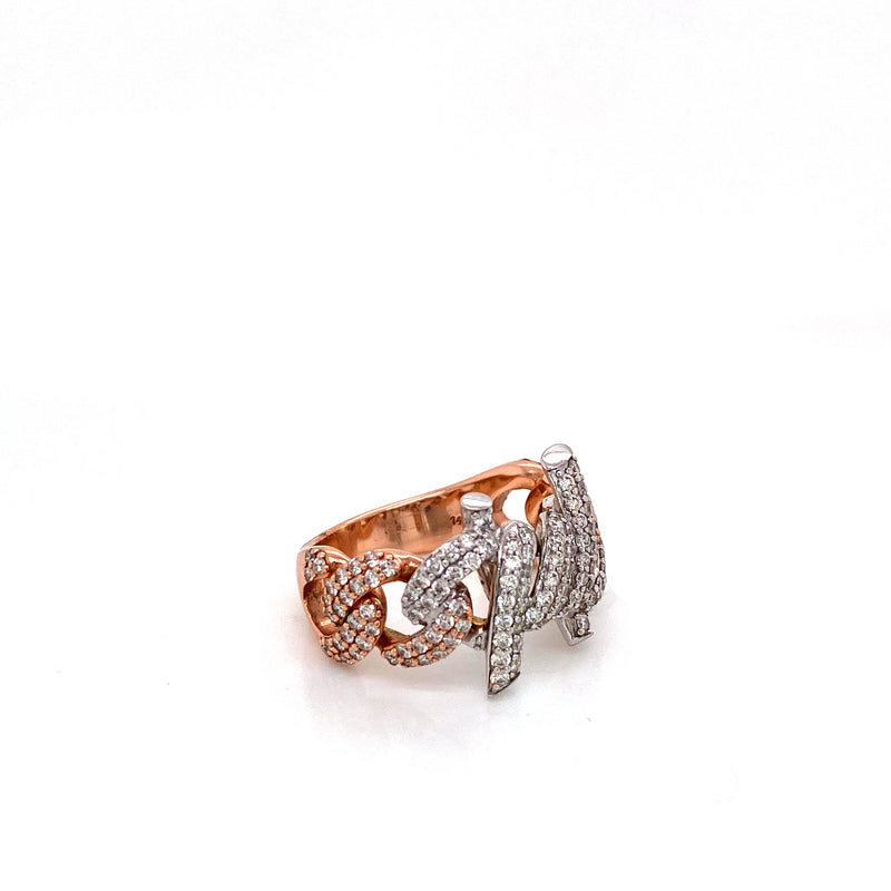 Barb Wire Ring - Gold & VS Diamonds Ring