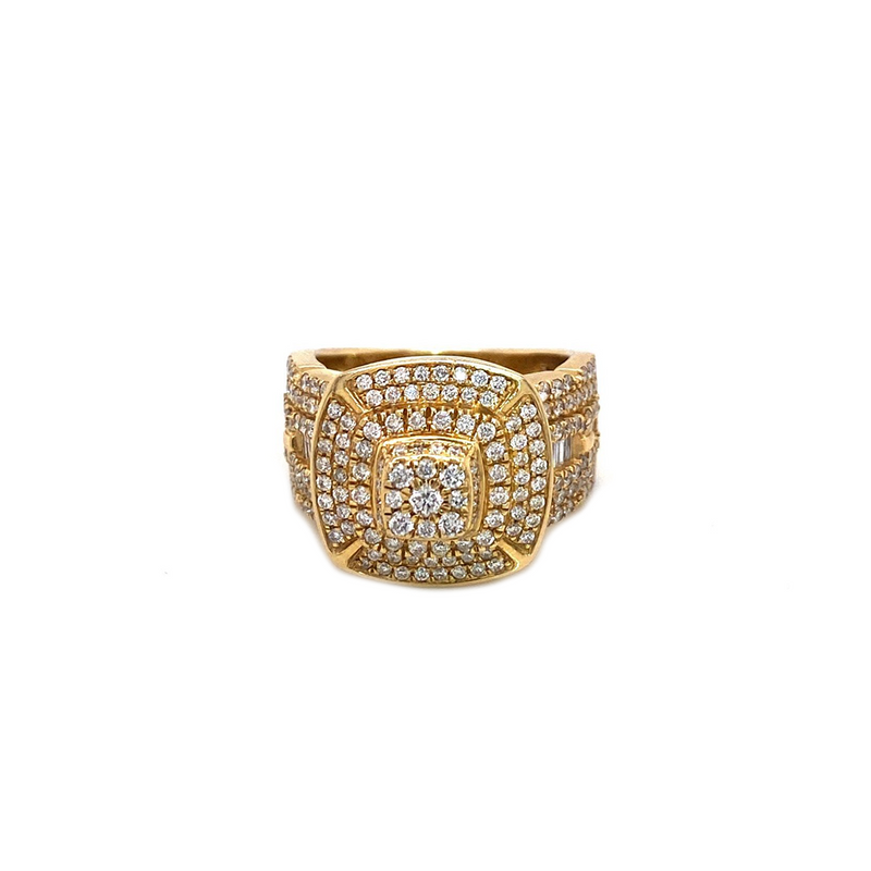 Vs Temple Ring - Yellow GOLD & VS DIAMONDS