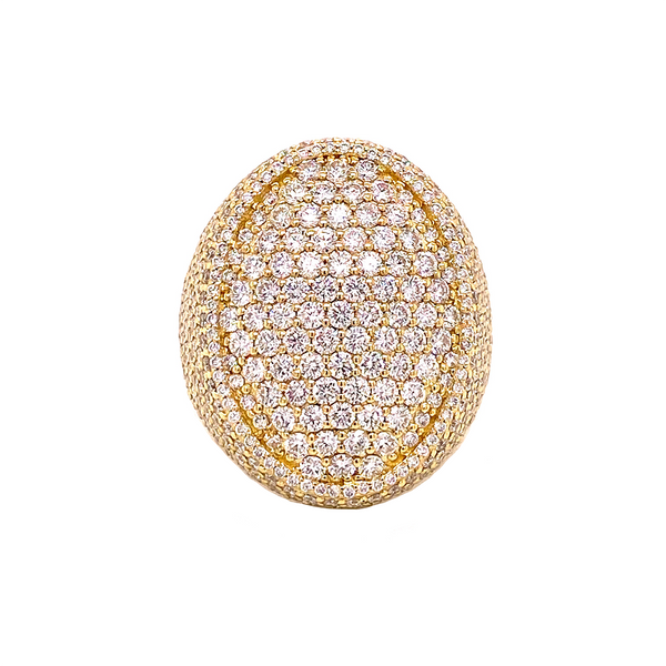 Oval Ring - Yellow Gold & VS Diamonds