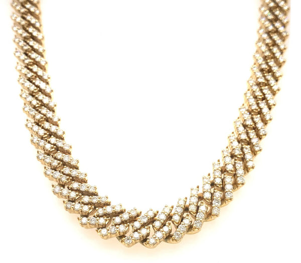 Prong Set Cuban Link Chain