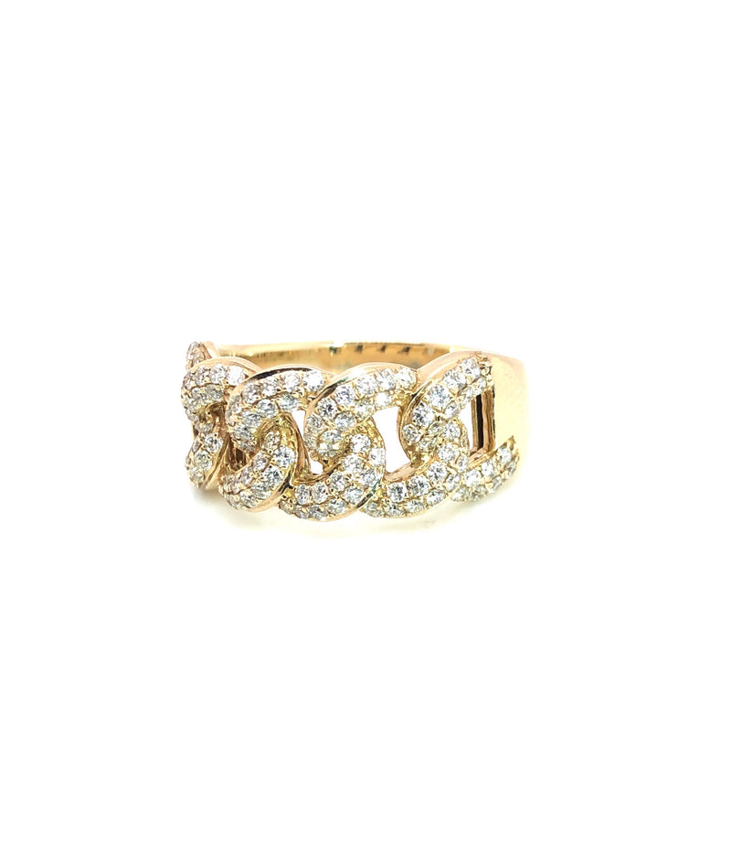 The Curb - Yellow Gold & VS Diamonds Ring
