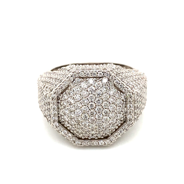 Octagon Ring - White Gold & VS Diamonds Ring