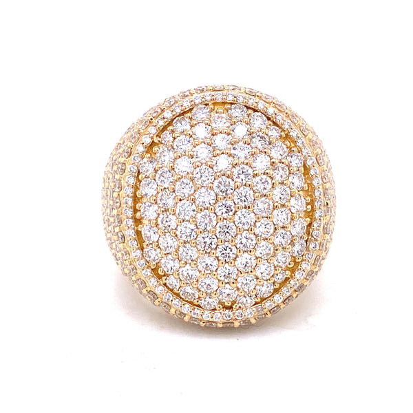 Orbit Ring - Yellow/White/Rose Gold & VS Diamonds