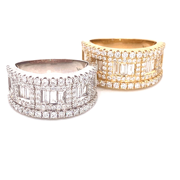 Glacier Ring- Yellow/White Gold & VS Diamonds