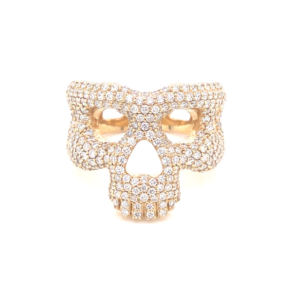 Skull Ring - Yellow Gold & VS Diamonds