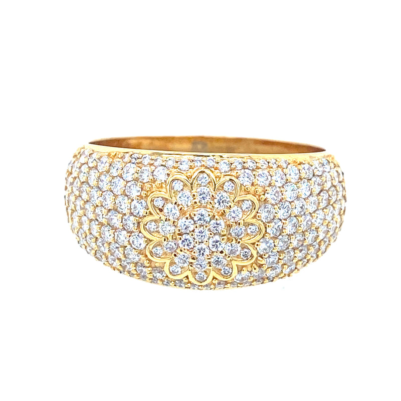 Embroid Ring - Yellow/White Gold & VS Diamonds