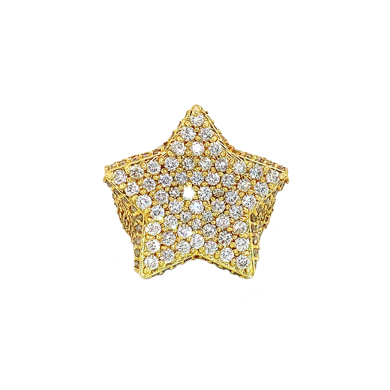 Star Frost Ring - Yellow Gold & VS Diamonds