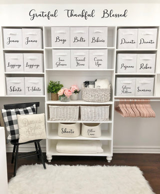 Do It Yourself Storage Cube Labels Closet Organization Labeling Iron On