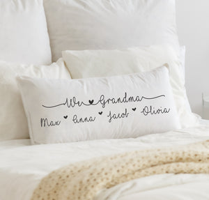 Personalized Pillow Cover For Grandparents