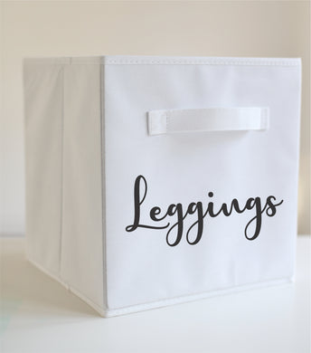 Do It Yourself Storage Cube Labels Pick From Leggings Undies Bras Socks