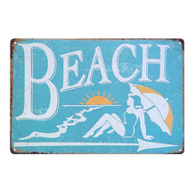 Load image into Gallery viewer, TROPICAL BAR Vintage Metal Tin Signs Decorative
