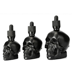 Skull dash bottles with pipette