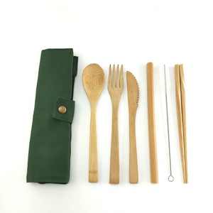 Natural Coconut Bowl / bamboo cutlery