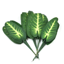 Load image into Gallery viewer, 20pcs Artificial tropical Leaves