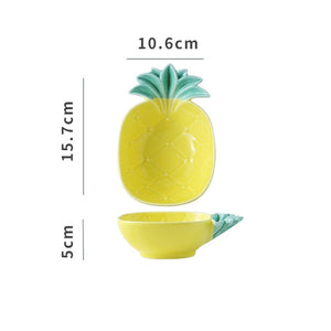 1Pcs Tropical Style Pineapple Ceramic