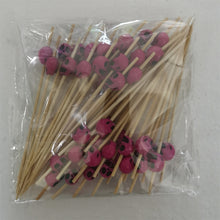Load image into Gallery viewer, 50pcs Cocktail Picks Skull Bamboo