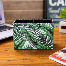 Load image into Gallery viewer, Tropical Palm Leaf Holder Organizer Storage Box Case